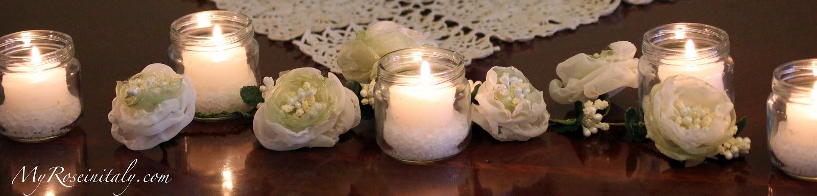 My roseinitaly un centrotavola improvvisato - Centro tavola con candele ...