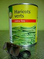 Boite de haricots verts