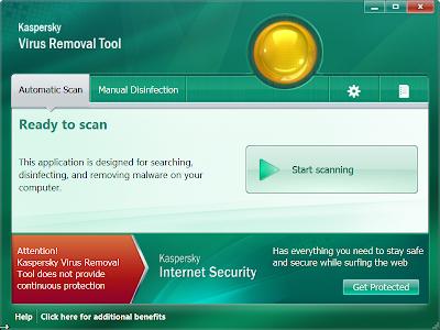 卡巴斯基電腦系統掃毒工具,Kaspersky Virus Removal Tool V11.0.0.1245 綠色免安裝版!