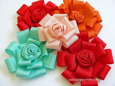Hướng dẫn làm hoa bằng ruy băng