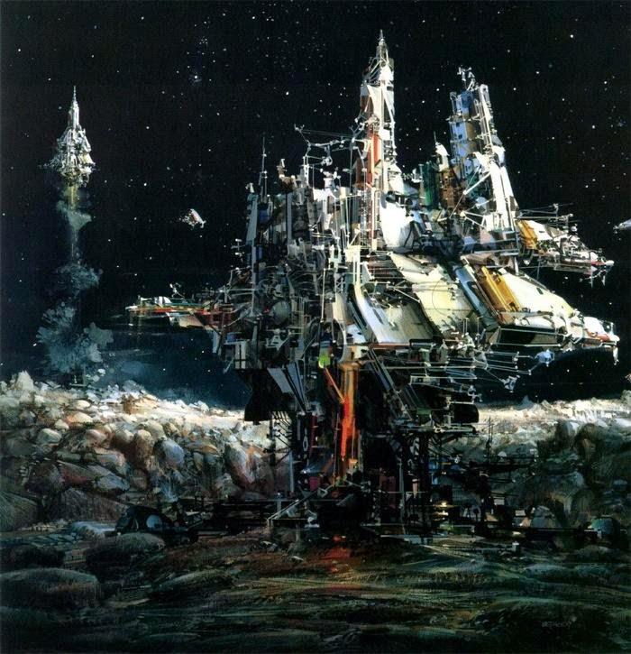 John Berkey pintura bases espaciales