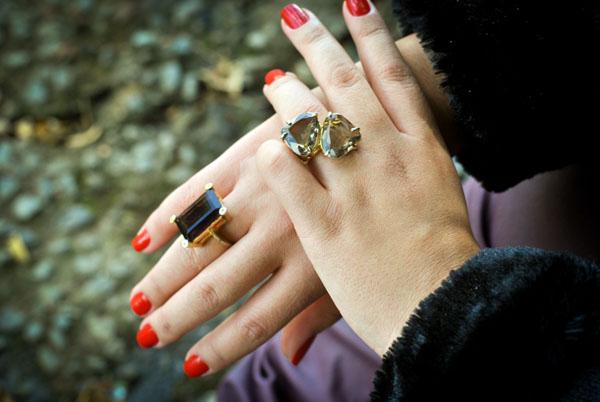 Esmalte vermelho Toque de Ira Risqué - anéis de pedra