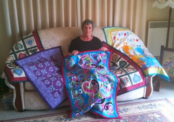 Sandra Turnbull and her quilts