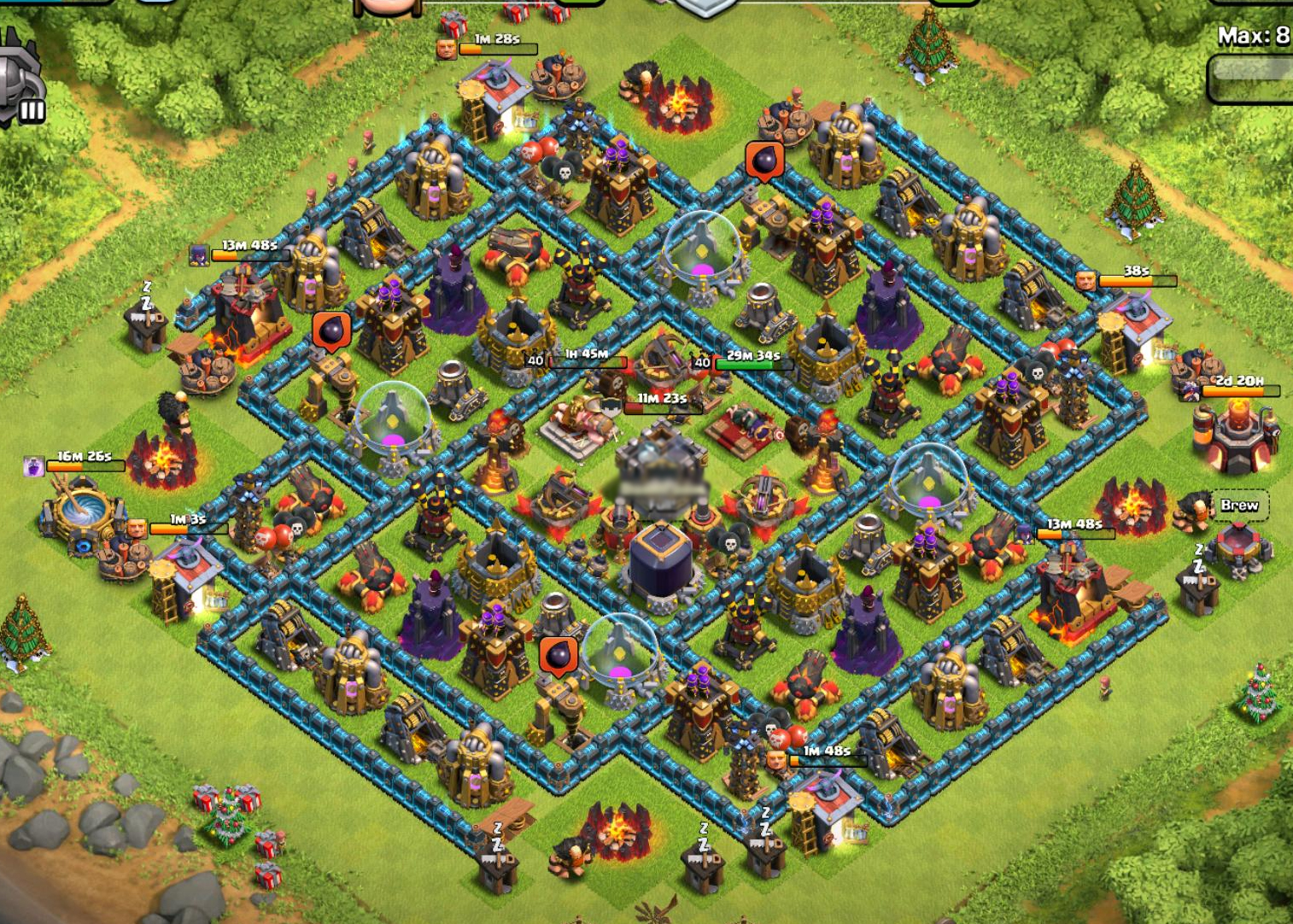 Town hall 10 farming base 2015 two air sweeper clash of clanscoc