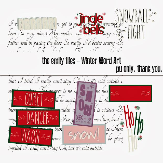 Free Winter Word Art