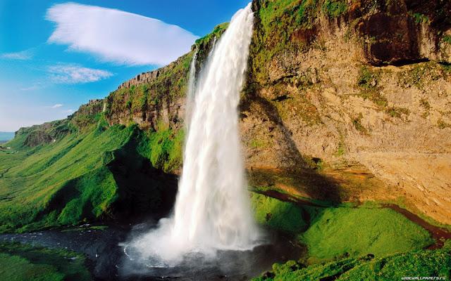 waterfall nature wallpaper