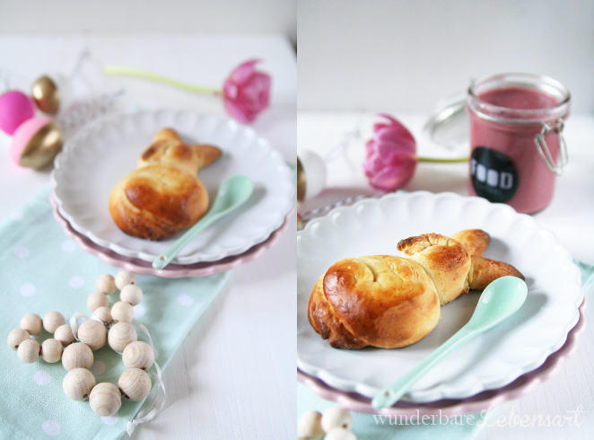 Oster special: Pan de leche mit Himbeercurd und Ostereier