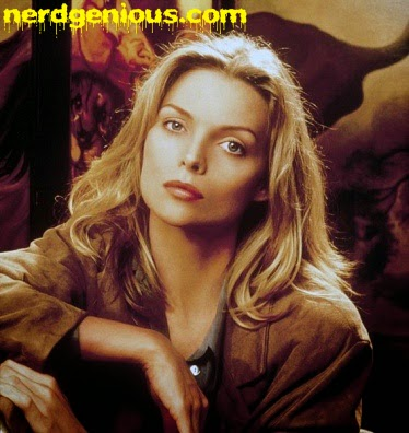 beautiful actress Michelle Pfeiffer in Wolf (1994)
