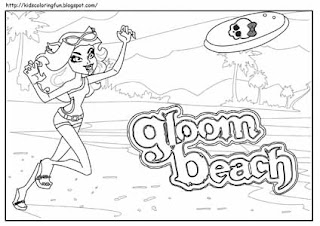 Monster High Clawdeen Coloring Gloom Beach