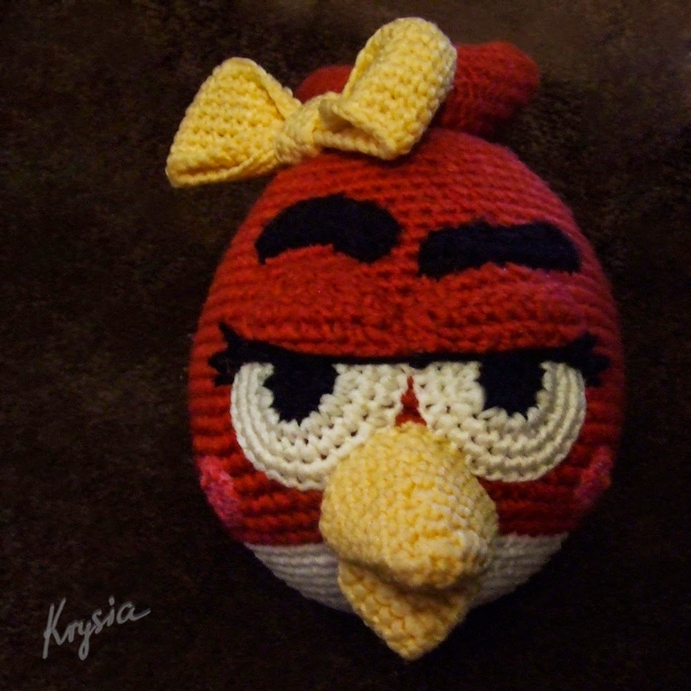 Angry Birds Red Girl amigurumi