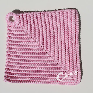 Charry Cotton Dishcloth Pink