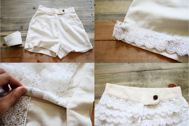 Lace Shorts Urban Outfitters Inspired