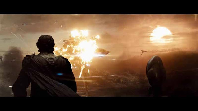 man of steel jor el russell crowe watches air battle krypton