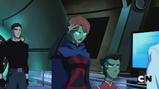 Superboy, Miss Martian and Beast Boy in Young Justice: Invasion