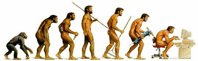 The 'Where did it all go wrong?' Evolution/devolution poster.