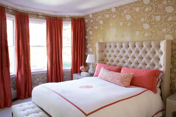 The bold and the beautiful pantone color for spring for Red master bedroom designs