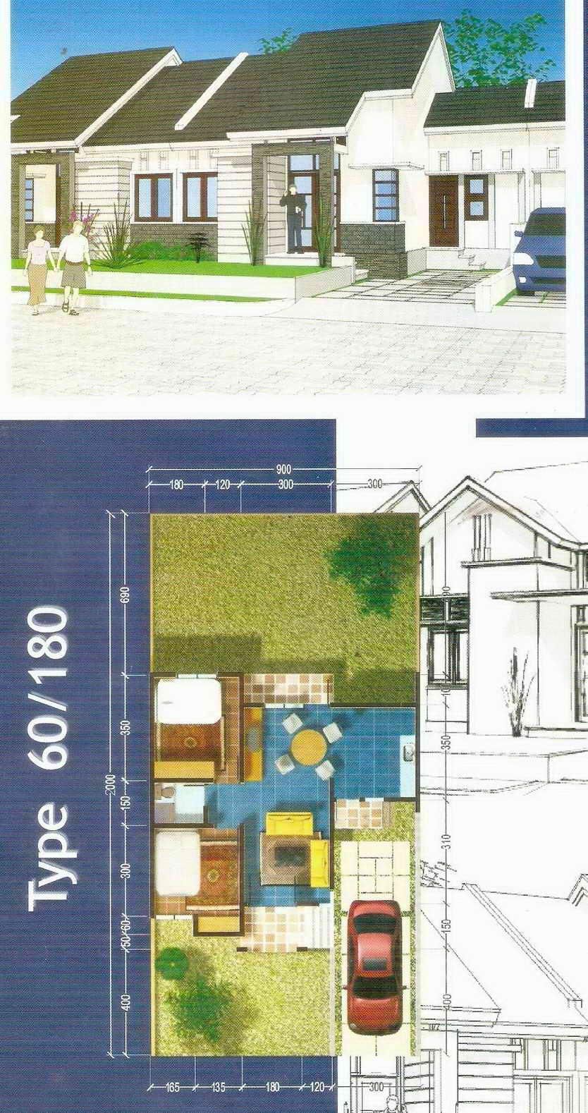 rumahku 1 denah desain rumah minimalis type 60