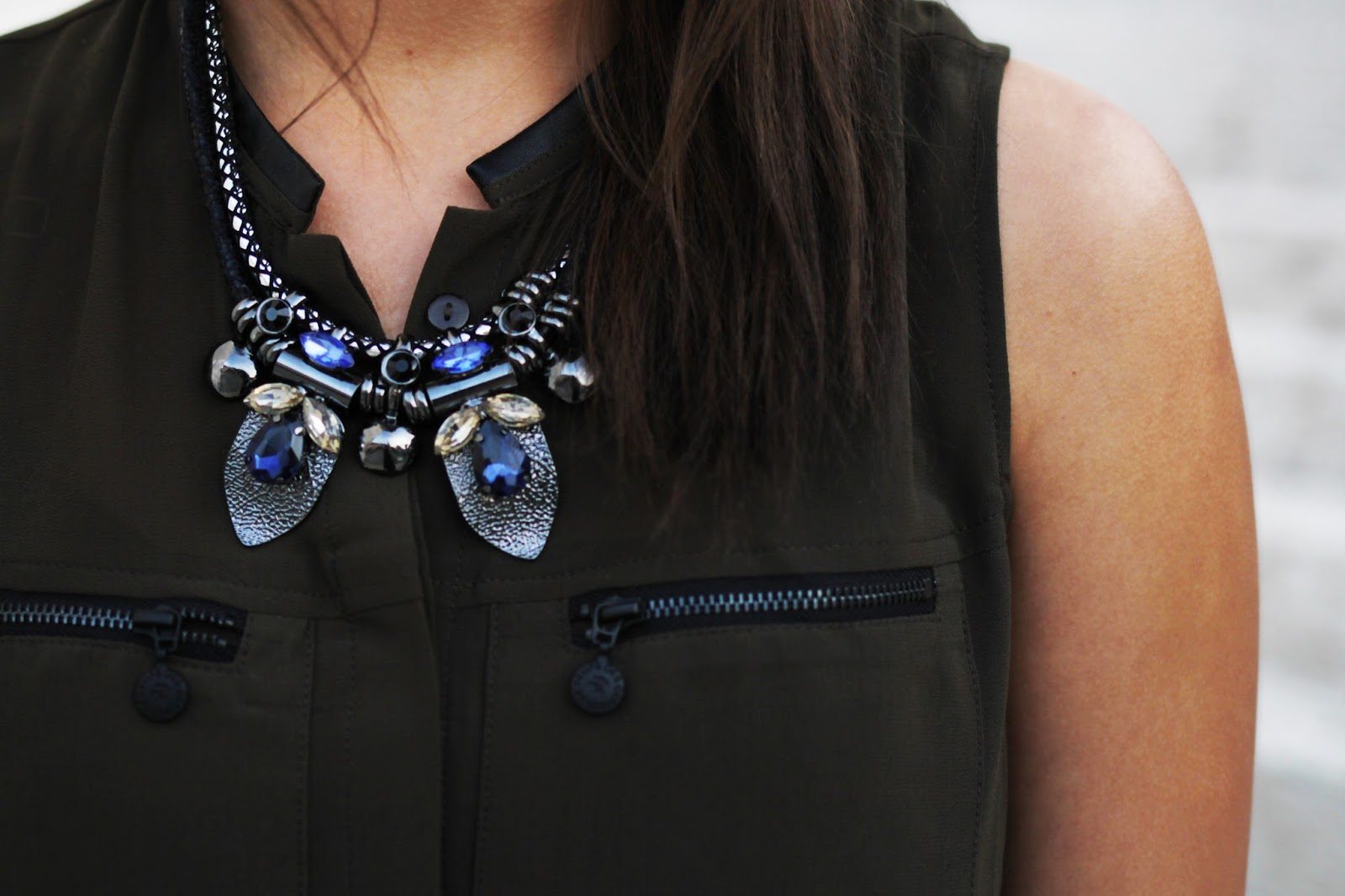 bluse only statement kette