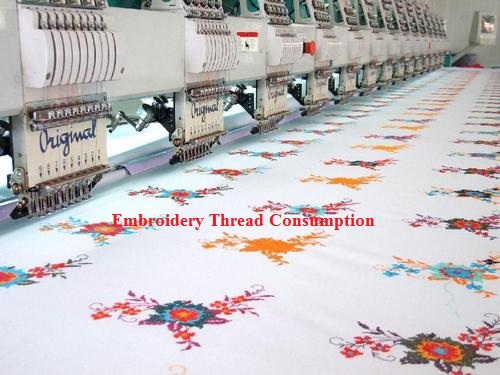Embroidery thread calculation