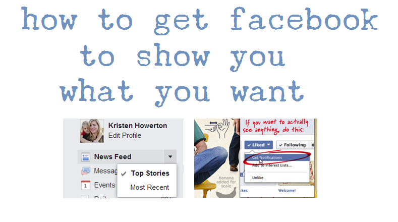 How to make facebook show what you want in your timeline
