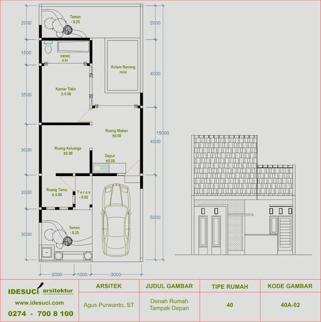 teras ruang tamu 1 kamar tidur ruang keluarga 1 kamar