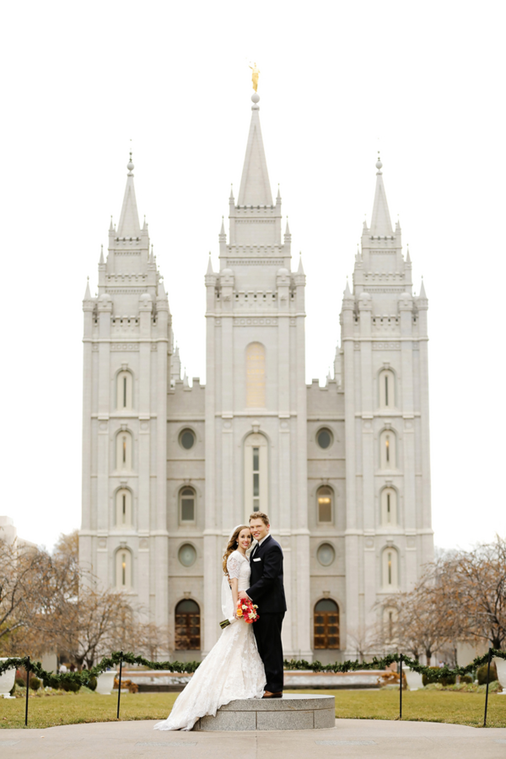 Salt Lake City LDS Temple Wedding