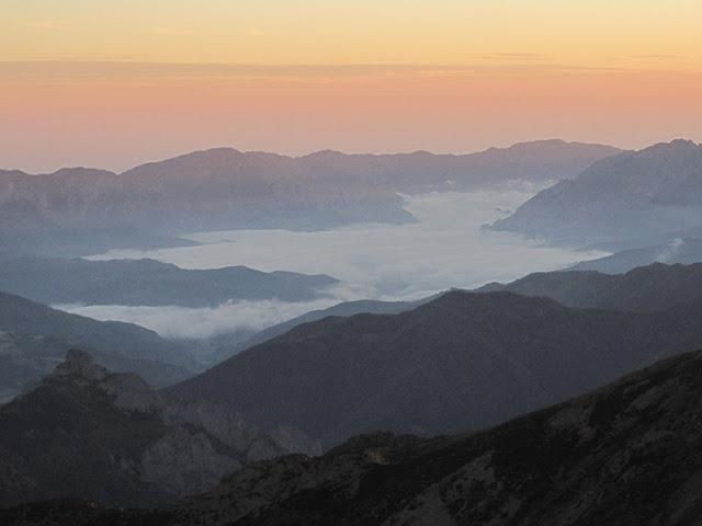 Amanecer desde el Pico Lezna