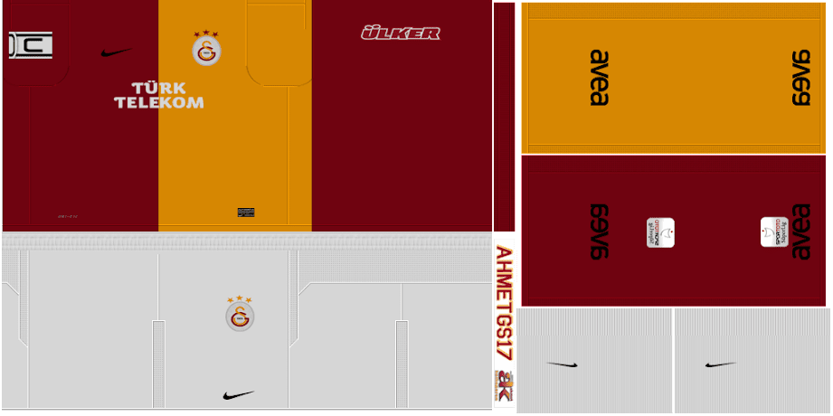 Galatasaray 11/12 Kit Set by ahmetgs17