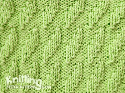 Rhombus Texture Knitting Stitch Patterns
