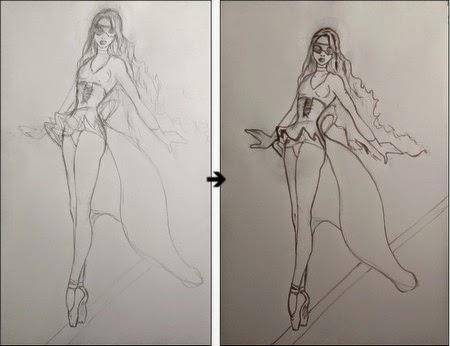 Disegni Di Ballerine Da Disegnare : La matita autodidatta: ballerina mascherata ad acquerello