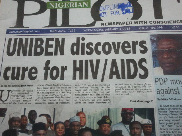 Nigerian university professor finds possible cure for HIV/AIDS