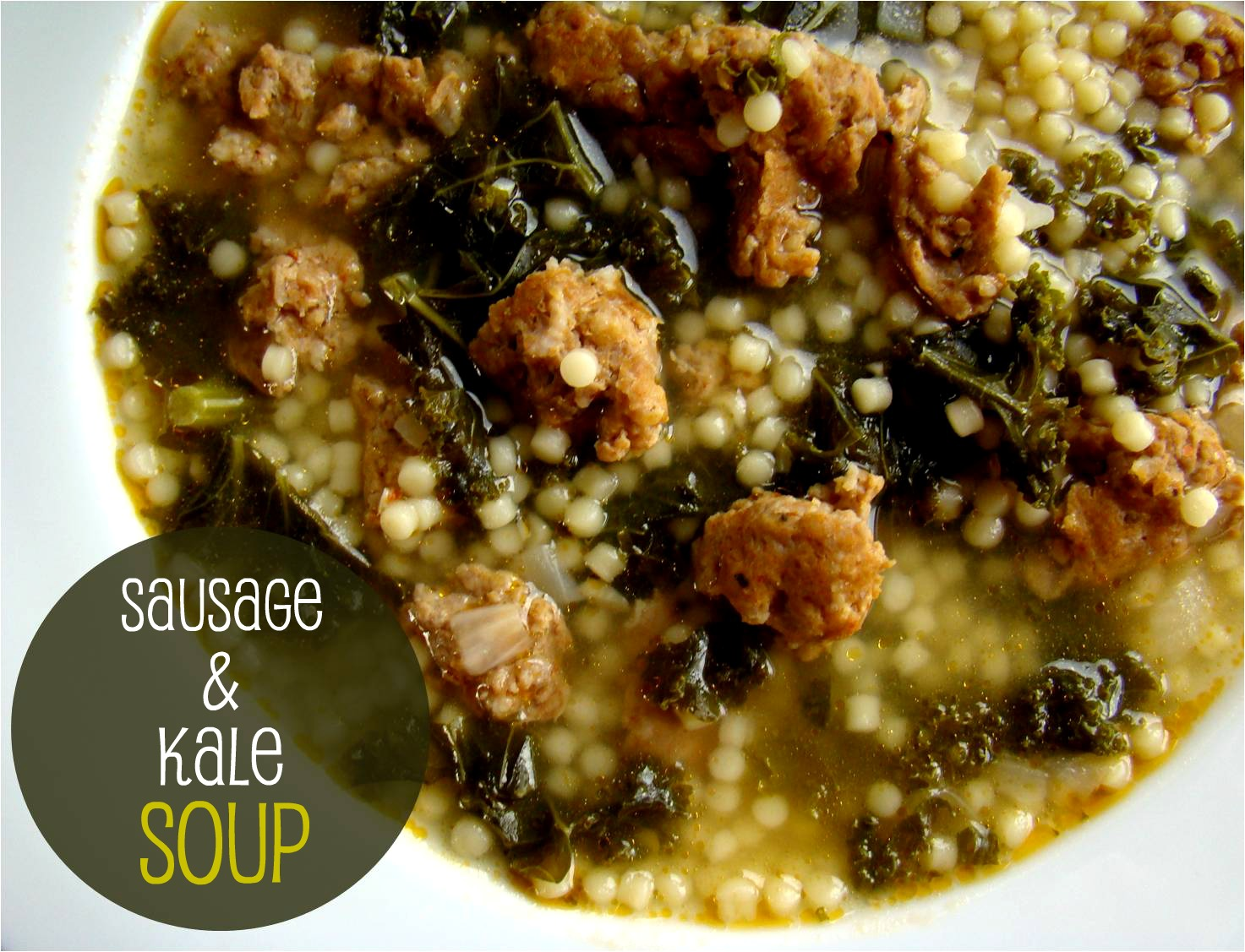 ... of a soup kick lately and this sausage and kale soup is the latest big