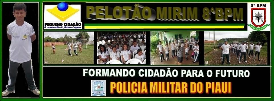 PELOTÃO MIRIM DO 8°BATALHÃO DA POLICIA MILITAR  DO PIAUI.