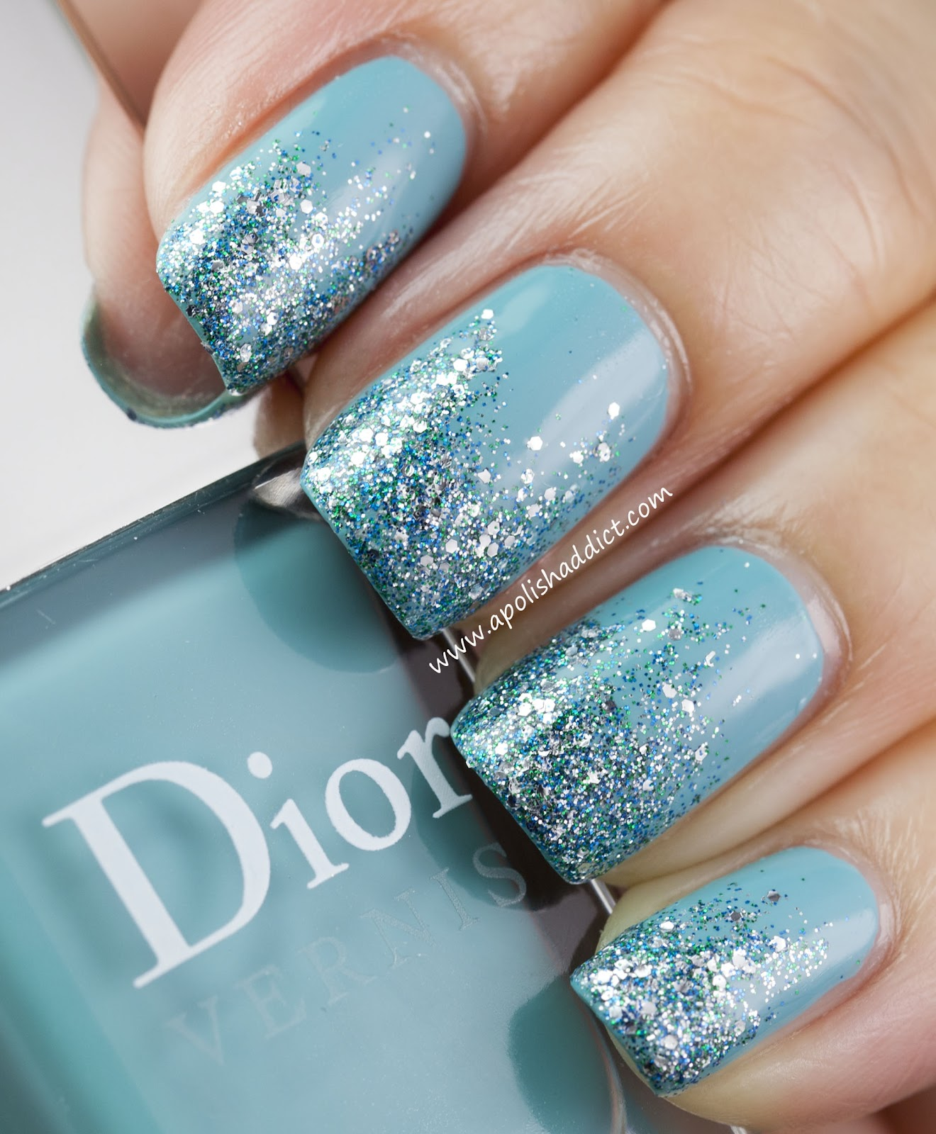 Glitter Tips with Dior Saint Tropez & Nails Inc Hammersmith | A Polish