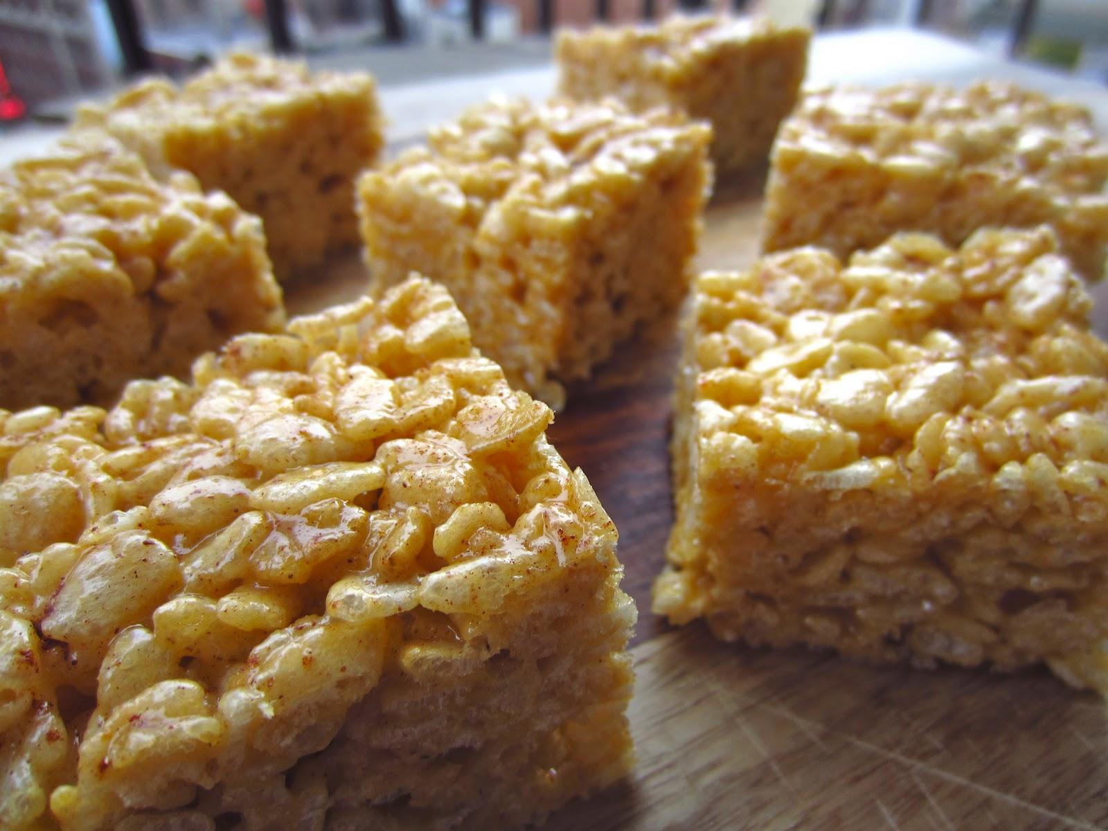 Gluten Free Blondie: Recipe: Pumpkin Spice Rice Krispie Treats