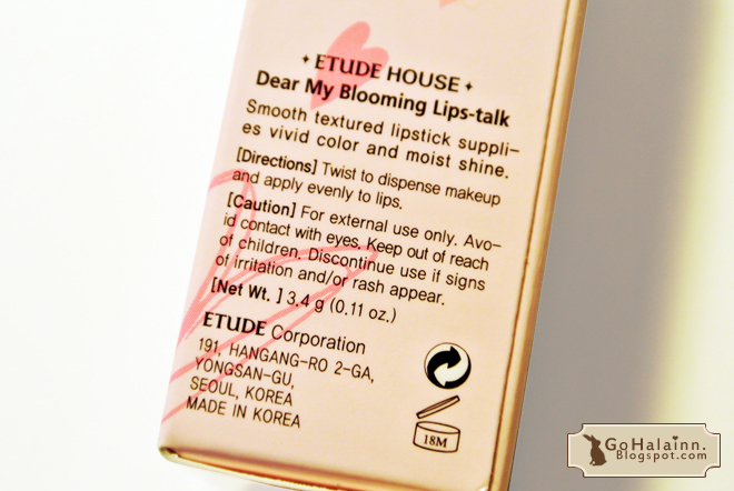 Etude House Dear My Blooming Lips-Talk RD302 Review