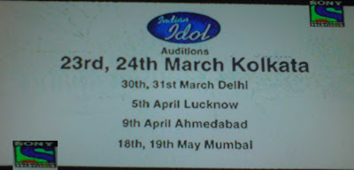 Indian Idol 6 Audition Dates