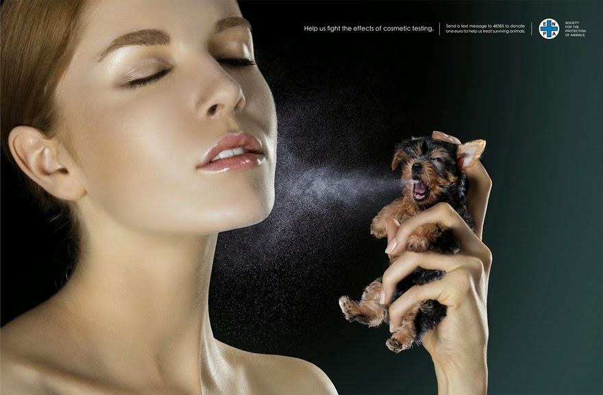 Help Us Fight The Effects Of Cosmetic Testing - 33 Powerful Animal Ad Campaigns That Tell The Uncomfortable Truth