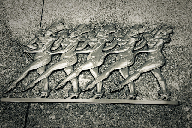radio city music hall, bronze, rockettes,