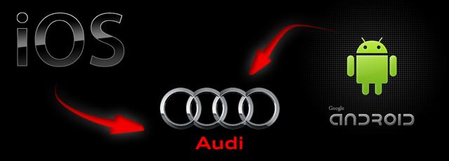 Systemy operacyjne Android i iOS w samochodach Audi