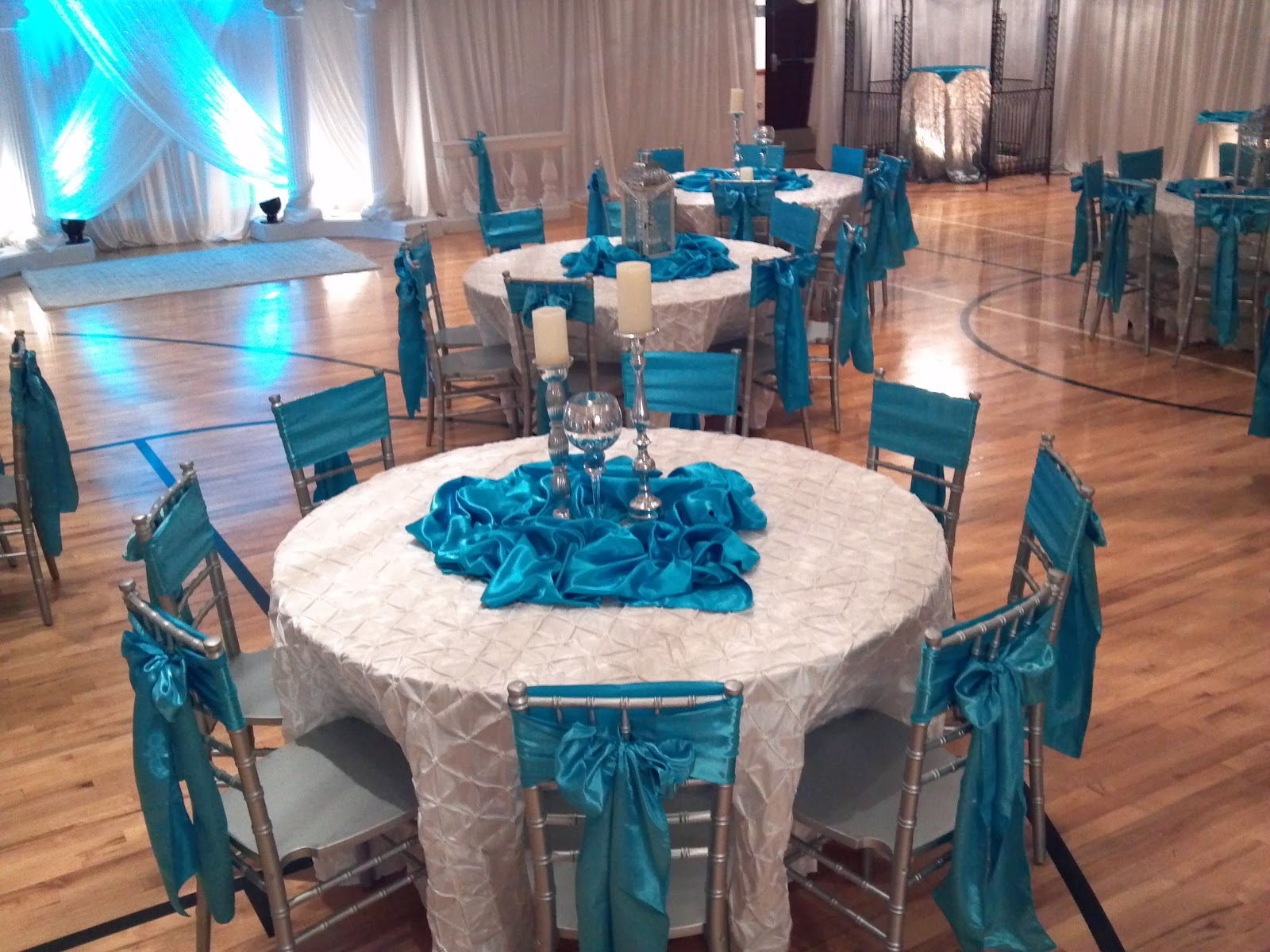 Wedding Reception Decorations Turquoise Uweddings Crystal And