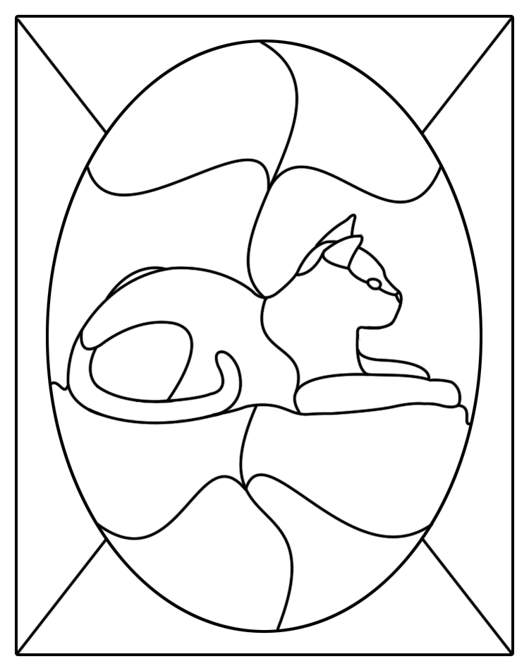 Dynamite image with printable stained glass patterns