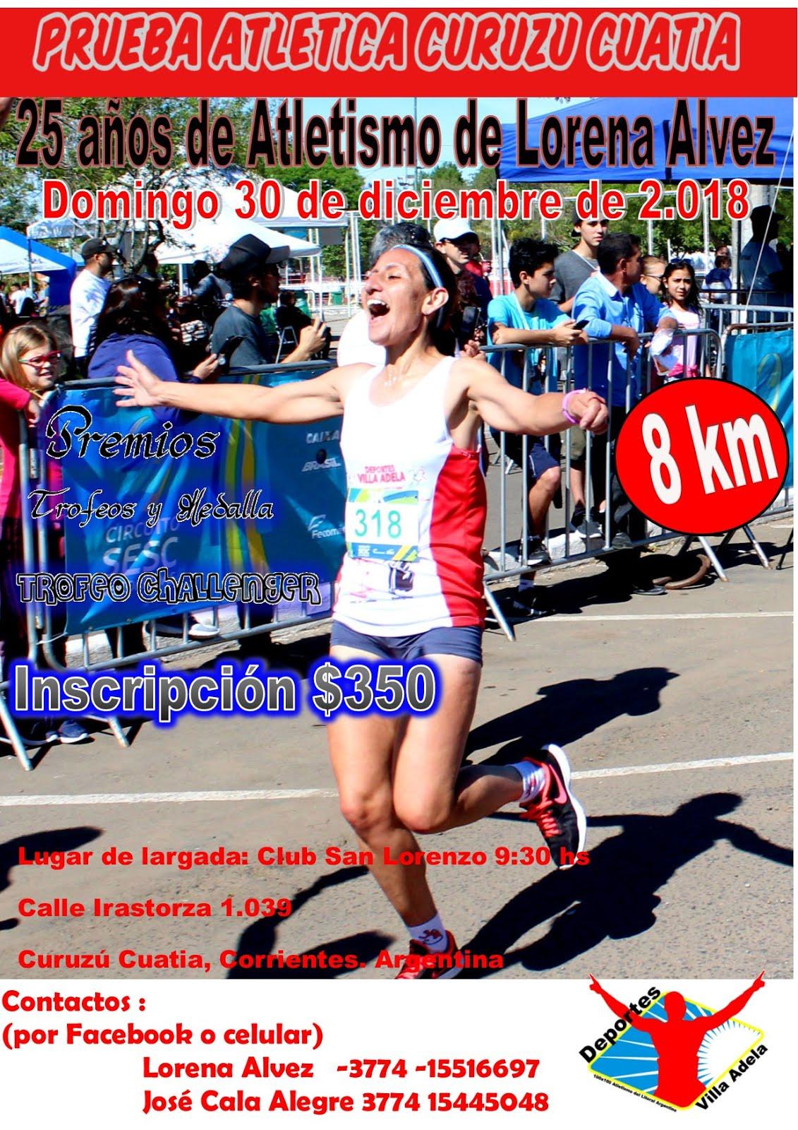 Aniv. 25 años del atletismo Lorena Alvez