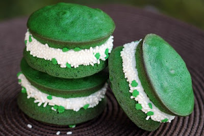 St Patrick's Day treats recipe: green velvet whoopie pies
