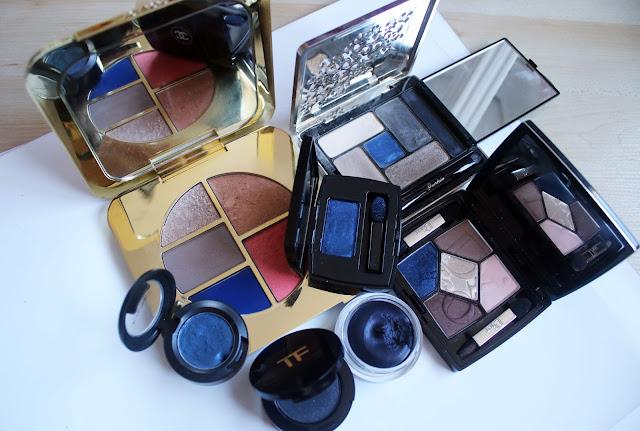 blue eye shadows dior, chanel, tim ford - luxury makeup