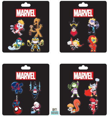 San Diego Comic-Con 2015 Exclusive Skottie Young Marvel Pin Series 4 Packs