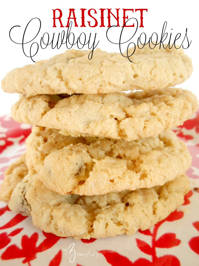 Raisinet Cowboy Cookies recipe {and my secret for perfectly chewy cookies every time} at my3monsters.com