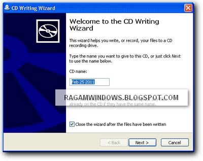 CD Writing Wizard