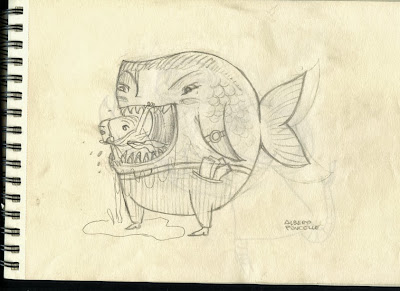 Alberto Poucelle ilustrador illustration kids hand gothic vintage bestiario