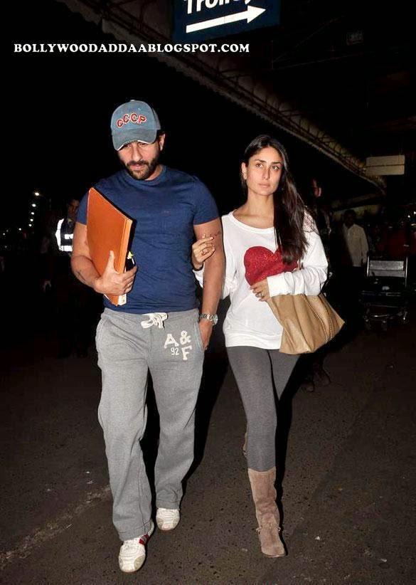 Saif-Kareena :Saif Ali Khan & Kareena Kapoor Snapped At The Airport Latest Unseen Rare pics [HD]